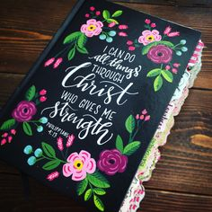 Choose Your Quote Journaling Bible by AmyHopkinsDesigns on Etsy https://www.etsy.com/listing/499351544/choose-your-quote-journaling-bible