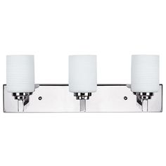 The Carmen Energy Star rated vanity collection features this contemporary vanity that is suitable for many bathroom and powder room applications. This chrome vanity fixture is ideal over your bathroom mirror and can be installed as an up or d Bathroom Sconces, Bathroom Wall Lights, Bathroom Vanity Lighting, Home Decor Lights, Home Lighting, Multi Luminaire, Contemporary Vanity, Residential Lighting, Bath Vanities