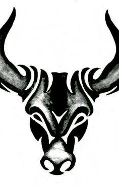 Tribal bull tattoo