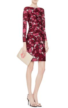 Ruched Printed Jersey Dress by Marc Jacobs - Moda Operandi