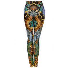 Alexander McQueen PLATO Snake Print Leggings  Mint   S