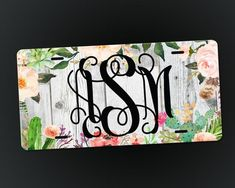 Personalized License Plate, Monogrammed Car Tag, New Car Gift, Custom License Plates, Car Tags for W Car License Plates, Custom Front License Plates, Personalized Car Tags, Customized Gifts, Valentines Day Shirts, Valentine Day Love, Dental Shirts, First Car, Vinyl Decals