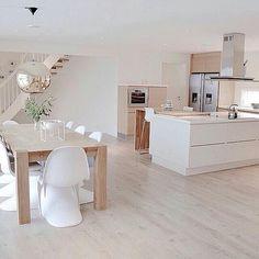 46 most popular scandinavian kitchen ideas 33 Elegant Kitchens, Luxury Kitchens, Home Kitchens, Kitchen Dinning, New Kitchen, Kitchen Decor, Kitchen Island, Kitchen Ideas, Nordic Kitchen