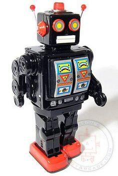 D-Cell toy tin robot Vintage Robots, Retro Robot, I Robot, Retro Toys, Vintage Toys, Old School Toys, Space Toys, Vintage Space, Toys Online