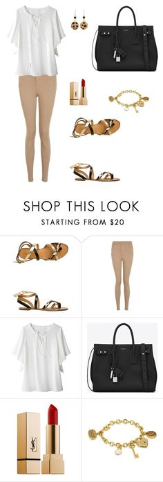 """Untitled #1252"" by mariafilomena471 ❤ liked on Polyvore featuring Report, Topshop, Avon, Yves Saint Laurent, Disney and Chico's"