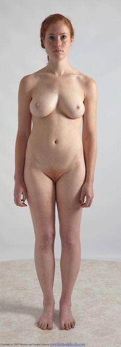 Nude Figure Reference Pose Turn-Around (animated gif)