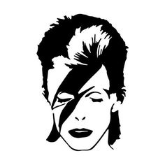 David Bowie Vinyl Decal Lightning Bolt Ziggy Stardust Diamond Dogs... ❤ liked on Polyvore