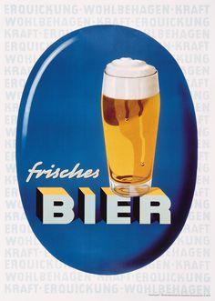 German beer ad 1960ies
