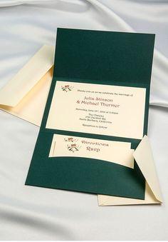 Horizon pocket folders green & cream