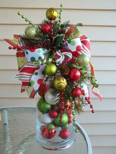 SANTA'S on HIS WAY - Decorative Holiday Swag/Bow by DecorClassicFlorals, $29.95