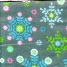1/2 Yard Flannel Quilt Fabric Winter Warmth Gray Snowflake Christmas  | auntiechrisquiltfabric - Craft Supplies on ArtFi