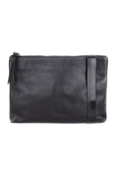 LARGE LEATHER CLUTCH: