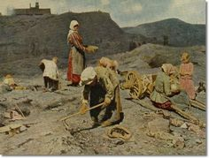 Poor People Gathering Coal at an Exhausted Mine, 1894 by Nikolaj Alekseevich Kasatkin Art Print Magnolia Box Size: Extra Large Russian Painting, Russian Art, Framed Art Prints, Painting Prints, Painting Art, Art Paintings, Social Realism, Soviet Art, John Singer Sargent