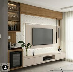 36 Amazing TV Wall Design Ideas For Living Room Decor - homepiez room tv. - 36 Amazing TV Wall Design Ideas For Living Room Decor – homepiez room tv wall modern tv u - Tv Unit Decor, Tv Wall Decor, Wall Tv, Tv Wand Design, Tv Unit Interior Design, Tv Cabinet Design Modern, Interior Design Living Room, Living Room Decor, Living Rooms