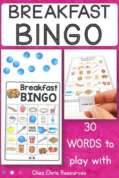 Let's play bingo ! With your students, revise breakfast vocabulary. 30 words and 30 boards for everyone in the English class to play with. Calling cards included and differentiation possible. Students will practice pronunciation and listening comprehension with that simple yet complex activity. For ESL classes and young learners from primary school to middle school #esl #teachenglish #chezchrisresources English Food, English Class, Teaching English, Esl Resources, School Resources, Bingo Board, Food Vocabulary, Interactive Activities, Bingo Games