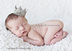 Champagne Newborn Baby Lace Crown Photography Prop