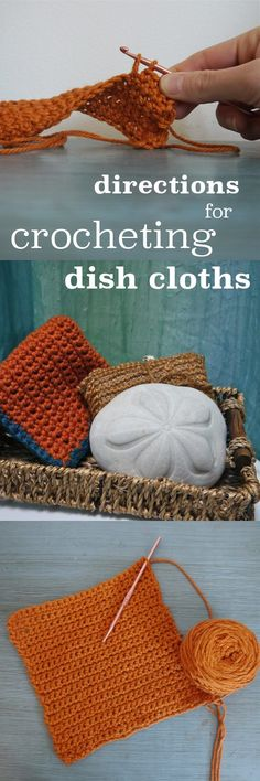 Dish cloths make for a great started project for beginners trying to learn to crochet! 100% cotton yarn is the best kind of yarn for this project. Easy directions here: http://www.ehow.com/way_5417901_directions-crocheting-dishcloths.html?utm_source=pinterest.com&utm_medium=referral&utm_content=inline&utm_campaign=fanpage