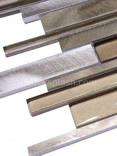 Brown Metal Glass Mixed Mosaic #Kitchen #Backsplash Tile http://backsplash.com/