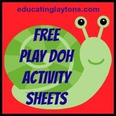 play doh activity sheets