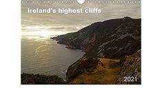 Ireland's highest cliffs (Wall Calendar 2021 DIN A4 Landscape) Cliff, A4, Ireland, Calendar, Landscape, Water, Outdoor, Wall Calendars, Stationery Set