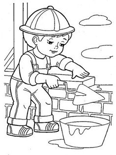 Раскраски Профессии Bee Coloring Pages, Coloring Sheets For Kids, Online Coloring Pages, Free Coloring, Adult Coloring, Coloring Books, Drawing Lessons For Kids, Art Drawings For Kids, Art For Kids