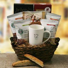 Gourmet Coffee Gift Baskets: Starbucks Sensation Starbucks Gift Basket @ Design It Yourself Gift Baskets