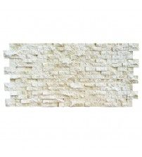 """#145- ALMOND - Travertine Stacked Wall Panel 48""""W x 24""""H x 1 1/2""""D"""