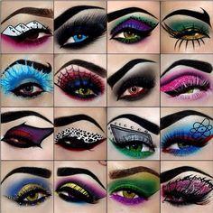 Halloween Make-up Ideen: Dramatische Augen - Makeup İdeas For Wedding Creative Eye Makeup, Eye Makeup Art, Eyeshadow Makeup, Eye Art, Eyeshadow Ideas, Crazy Eyeshadow, Fun Makeup, Fairy Makeup, Eyeshadow Designs