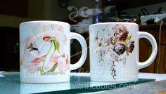Calco vitrificable full color para souvenir a partir de diseño aportado por el cliente.