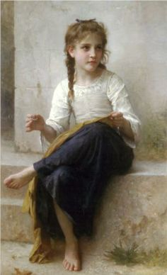 Thedressmaker - William-Adolphe Bouguereau
