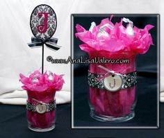 centerpiece ideas at this website...Olivia, Princess, etc.