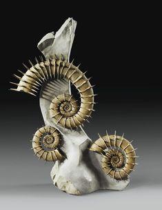 Ammonite Crioceras nolani, Bas crétacé (environ 133 millions d'années), Peyroules, sud de la France.