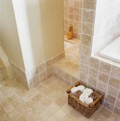 healthy living at home sacramento california jobs opportunities Travertine Bathroom, Bathroom Interior, Loft Bathroom, Modern Bathroom, Bathrooms, Tile Floor, Sweet Home, Bathtub, Interior Design