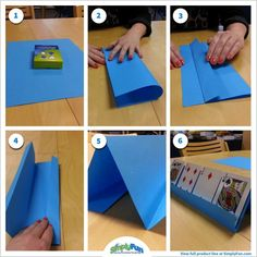 DIY: Here's an easy way to make a card holder for little ones who need help holding and playing cards. Card Games For One, Games For Kids, Diy For Kids, Activities For Kids, Crafts For Kids, Therapy Activities, Family Games, Diy Crafts, Playing Card Crafts