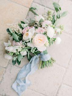 Tuscan-Style Wedding Tuscan-Style Wedding at Malibu Rocky Oaks in California Blue Wedding Flowers, Wedding Flower Arrangements, Bridal Flowers, Wedding Centerpieces, Floral Wedding, Wedding Bouquets, Floral Arrangements, Wedding Decorations, Tall Centerpiece