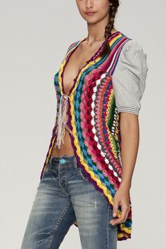 Desigual Cardigan Jers Mayal S M - Born2Style Fashion Store Projets De  Crochet be38f62bd4ee