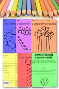 "30 Connect the Dots Behavior ""Charts"" - a visual tracking tool to reinforce positive behavior. Interactive and more sustainable because the STUDENTS are keeping track throughout the school day. #behaviorcharts #connectthedots #positivebehavior"