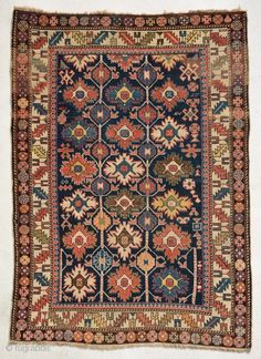 Shirvan rug, 19th Century . Size is 150 x 109 cm