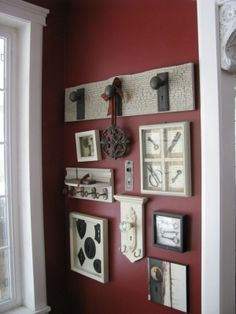 Door knob & antique key decor by rose