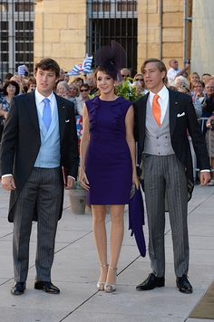 Prince Sebastian, Princess Tessy wife of Prince Louis of Luxembourg - The guests have begun arriving for the royal wedding of Prince Felix of Luxembourg and Claire Lademacher - Photo 6 | Celebrity news in hello...