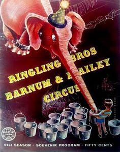 vintage circus program