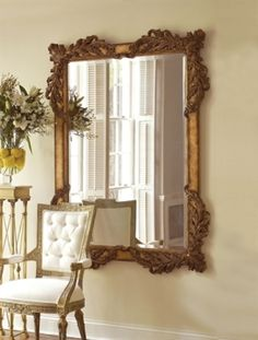 Picture of La Barge - Hand Carved Rectangular Mirror