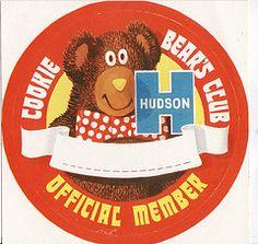 1970s Hudson Cookie Bear Club Official Member Sticker - New Zealand