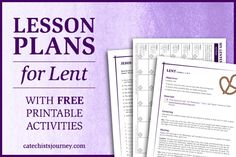 Start Lent with passion and purpose by using our free lesson plans for Lent, appropriate for primary, intermediate, and junior high levels.