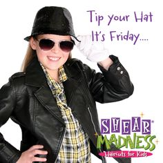 Another Fabulous Friday! Enter to win a FREE Haircut on our facebook! #TGIF #freehaircutfriday #shearmadnesskids https://www.facebook.com/shearmadnesskids