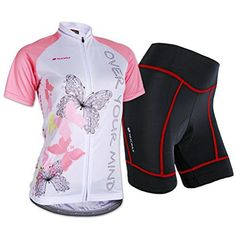 Sponeed Women's Cycle Jersey Bike Clothing Gel Padded Short Sleeve Butterfly Size XL US Pink - http://ridingjerseys.com/sponeed-womens-cycle-jersey-bike-clothing-gel-padded-short-sleeve-butterfly-size-xl-us-pink/