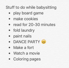 what to do when babysitting