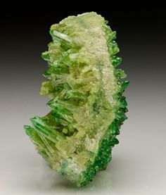 "bijoux-et-mineraux: "" Vesuvianite - Jeffrey Mine, Asbestos, Richmond Co., Quebec, Canada """