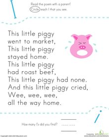 Find the Letter I: This Little Piggy