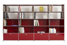 USM Modular Furniture is best known for a single product, the USM Haller, a system of modular shelving first manufactured in 1965 for its new offices. Since then, it has taken off as a design cult classic, no doubt owing to its near-infinite capacity to be configured and customized for any space.
